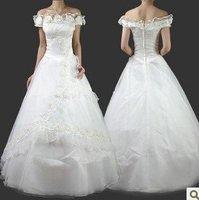 Wholesale / retail free shipping Gorgeous Aline Wedding Dress Wedding Gown Bridal Dress stock SZ:S.M.L.XL.XXL