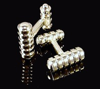 FREE SHIPPING!wholesale 925 Sterling Silver Stick Design Cufflinks