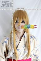 HIGHSCHOOL OF THE DEAD Rei Miyamoto cosplay wig wholesale retail (gold,80cm)