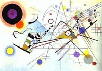 Reproduction by Kandinsky ,Avtandil, decoration painting, Wall decoration (Gift Oil Painting)-007