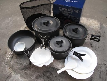 outdoor camping cooking set \cookware sets DS-500 for 4-5 person