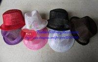 20pcs/lot Sinamay Top Hat Mini Top Hat Fascinator Hat #6Color