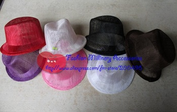 20pcs/lot Sinamay Top Hat Mini Top Hat Fascinator Hat #6Color