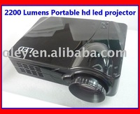 Free shipping 2200 lumens HD LED projector