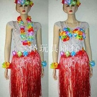 Free ship nice new Girls Hawaiian Hula fancy costume set 60cm