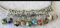 FREE SHIPPING 60PCS Mixed Color Cloisonne bead charm dangle fit charm bracelet M7236-245