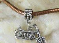FREE SHIPPING 60PCS Tibetan Silver Motobike Dangle w/big hole Fit Charm Bracelet M8099