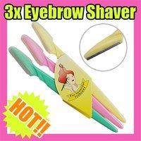 Fast & Free Shipping 15 travel eyebrow shaver shaping beautiful eyebrow S101