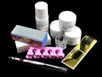 Fast & Free Shipping 5 set profession full nail art tool set acrylic UV Gel S172