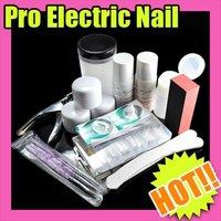 Fast & Free Shipping profession full kit nail art tool set acrylic UV Gel S175