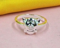 R215503 Free & Fast shipping Wholesale 925 silver cute lady lovely pig Rings