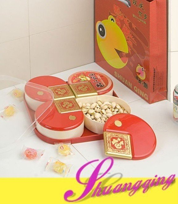 Lunar Chinese New Year Plastic Candy Tray(China (Mainland))