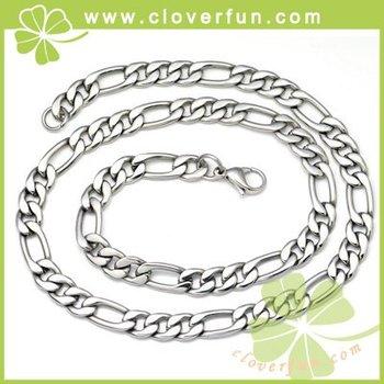 5PCs per lot titanium steel coolest men's jewel,8.8MM classic flat necklace,lover's gift