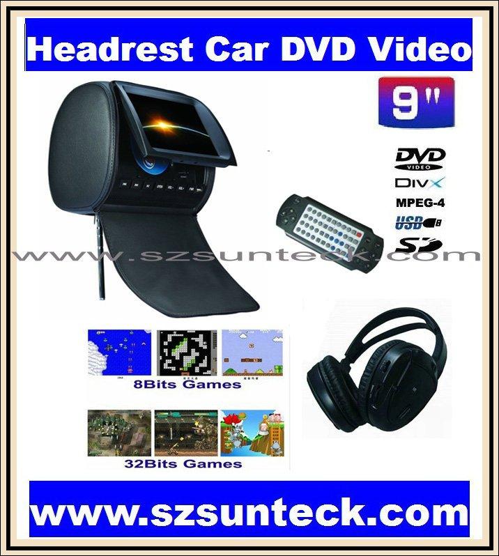 Автомобильный DVD плеер SUNTECK 2 x 9 dvd + wirelss 32 bit + + USB + SD + FM S901HC