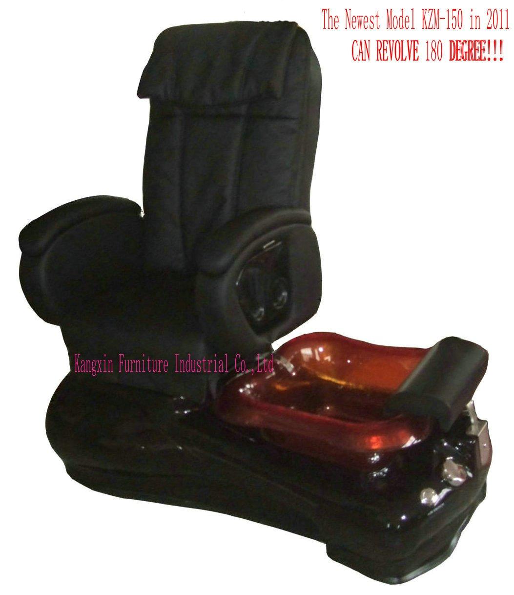 salão mais novo modelo massagem nos pés spa pedicure cadeira kzm-s150 da massagem elétrica controlador, giram 180 graus, pode ser uma poltrona(China (Mainland))