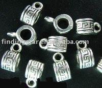 FREE SHIPPING 300pcs Tibetan silver Cylinder decorative bail A182