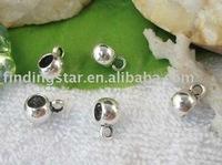 FREE SHIPPING 240pcs Tibetan Silver  round european bead bail fit charm bracelet ZM1205