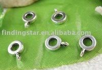 FREE SHIPPING 300pcs Tibetan Silver  european bead bail fit charm bracelet A11139