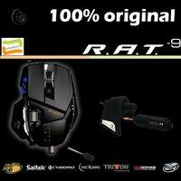 100% Original Genuine Top One Saitek Cyborg RAT9/R.A.T9 2.4ghz 5600 DPI Double Laser Wireless Game Mouse