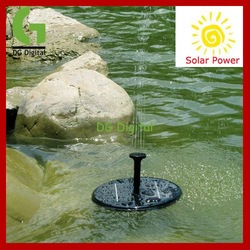 New Arrival lowest price Solar Power Floating Brushless garden Fountain mini water Pump Kit(China (Mainland))
