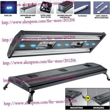 "ODYSSEA Aquarium lighting fixture/Fish tank lamp 48"" Metal Halide HQI+ T5 516W/Mounting legs"