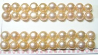 Free Shipping 30pair/lot Loose Freshwater Pearl Beads For DIY Jewelry Earring Pink 8-9mm  MP01