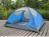 (Free Shipping)RYDER 3 Person Two Door Double Skin Alloy Pole Hiking Camping Tent,beach tent,high quality