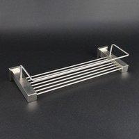Single Tier Rack,2 hooks  Stainless Steel Shower Rack,8581,1 piece/lot, free shipping