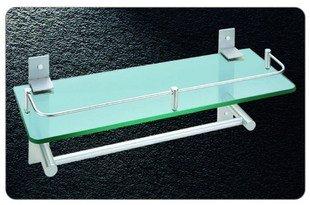 Nível único rack de vidro , alumínio aeroespacial Shower Rack, 600,1 pedaço / lote , frete grátis(China (Mainland))