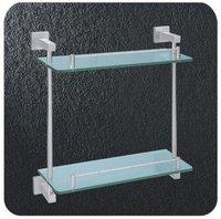 Dual Tier Glass Rack, Aerospace Aluminium Shower Rack,A2215,1 piece/lot, free shipping