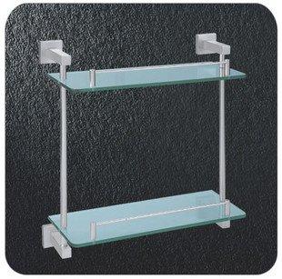 Dupla camada de vidro Rack, aeroespacial de alumínio do chuveiro Rack, A2215, 1 peça / lote, transporte livre(China (Mainland))