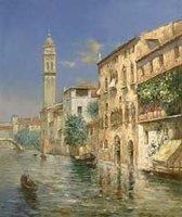 Landscape oil painting ,Venice Landscape, Hot,Contemporary Art (Hand painted canvas art )Venice-010