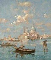 Landscape oil painting ,Venice Landscape, Hot,Contemporary Art (Hand painted canvas art )Venice-qw014