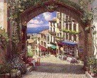 Landscape oil painting ,Venice Landscape, Hot,Contemporary Art (Hand painted canvas art )Venice-021