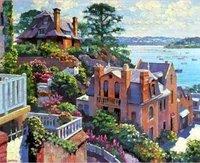 Landscape oil painting ,Venice Landscape, Hot,Contemporary Art (Hand painted canvas art )Venice-024