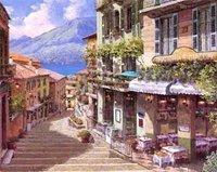 Landscape oil painting ,Venice Landscape, Hot,Contemporary Art (Hand painted canvas art )Venice-025