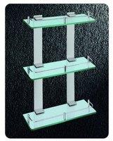 Triple Tier Glass Rack, Aerospace Aluminium Shower Rack,3350,1 piece/lot, free shipping