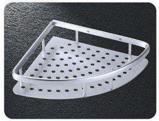 Single Tier Triangle Bathroom Rack, Aerospace Aluminium Shower Rack,9009,1 piece/lot, free shipping