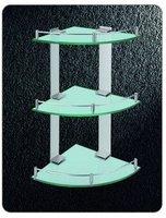 Triple Tier Triangle Glass Rack, Aerospace Aluminium Shower Rack,3250,1 piece/lot, free shipping