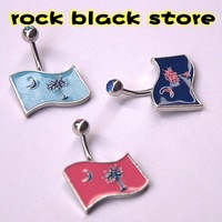 USA.Outh Carolina map logo belly rings belly button rings navel rings   body piercing jewelry make palm and moon