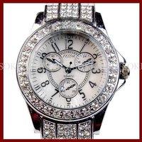 New Womens Analog Quartz Ladies Girls Wrist White Leather Band Gift Watch W011
