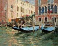 Landscape oil painting ,Venice Landscape, Hot,Contemporary Art (Hand painted canvas art )Venice-045