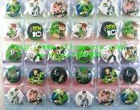 Wholesale - 25 sheets 1200 pcs BEN 10 Badge Button Pin 3CM party favor Free Shipping