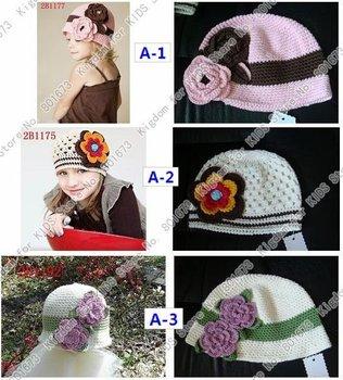 Crochet Beanie Baby cap Handmade Hat Crochet Hat 50pc/lot 33 designs