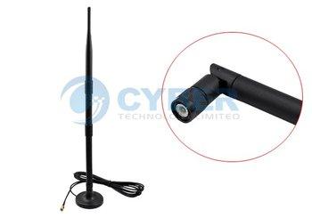 9 dBi 2.4 GHz 802.11b/g Omni WiFi Antenna RP-SMA Magnet