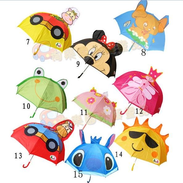 Cute Japanese cartoon animal shaped children's Umbrella children kid Umbrella lightweight comfort 15model colorful(China (Mainland))