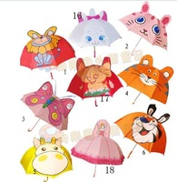 Free shipping Cute Japanese cartoon animal shaped children's Umbrella children kid Umbrella lightweight comfort 15model colorful