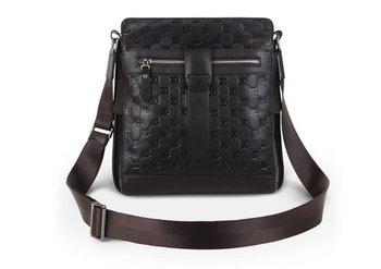 2011 top quality genuine leather shoulder handbag tote bag men's handbag briefcase brown free shipping