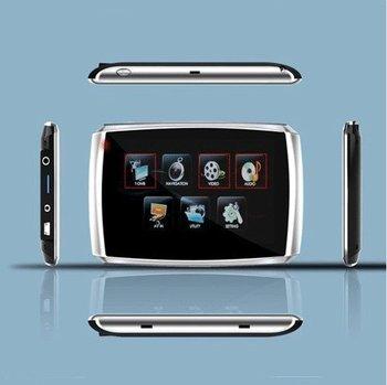 5 Inch GPS Navigator Pure Flat Color LCD FM-2GB Flash Memory-EBook 508T
