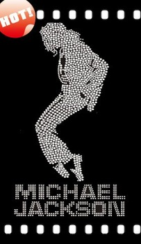 Free shipping 25Pcs rhinestone motif Michael Jackson Collector's Edition